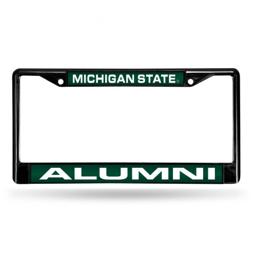 Michigan State Spartans Laser Black License Plate Frame