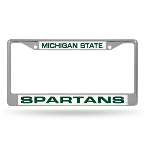 Michigan State Spartans Laser Chrome License Plate Frame