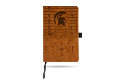 Michigan State Spartans Laser Engraved Brown Notepad