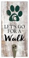 Michigan State Spartans Leash Holder Sign