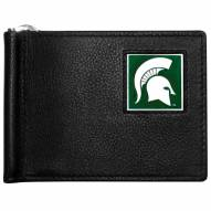 Michigan State Spartans Leather Bill Clip Wallet