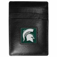 Michigan State Spartans Leather Money Clip/Cardholder in Gift Box