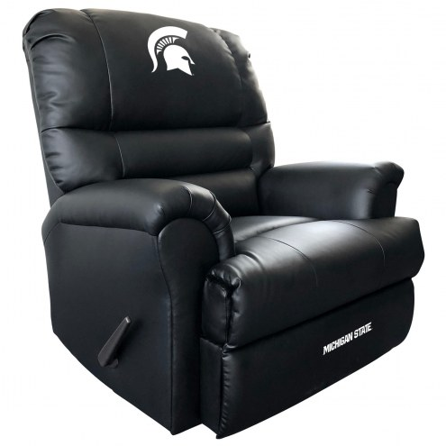 Michigan State Spartans Leather Sports Recliner