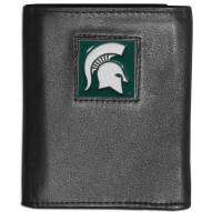 Michigan State Spartans Leather Tri-fold Wallet