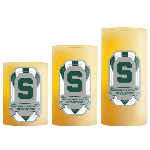 Michigan State Spartans LED Light Candle Set