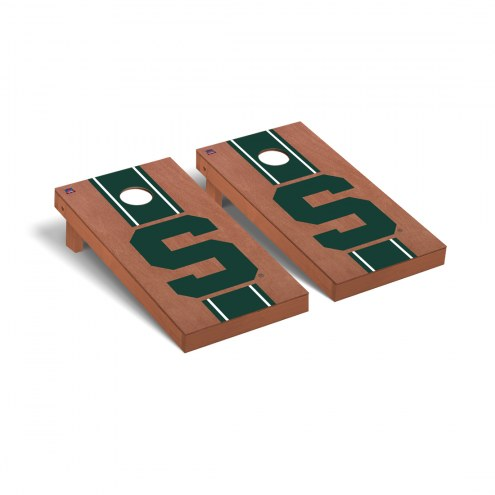 Michigan State Spartans Logo Rosewood Stained Cornhole Game Set