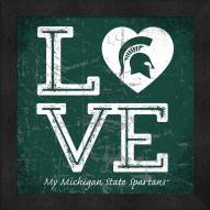 Michigan State Spartans Love My Team Color Wall Decor