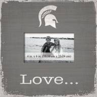 Michigan State Spartans Love Picture Frame