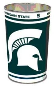Michigan State Spartans Metal Wastebasket