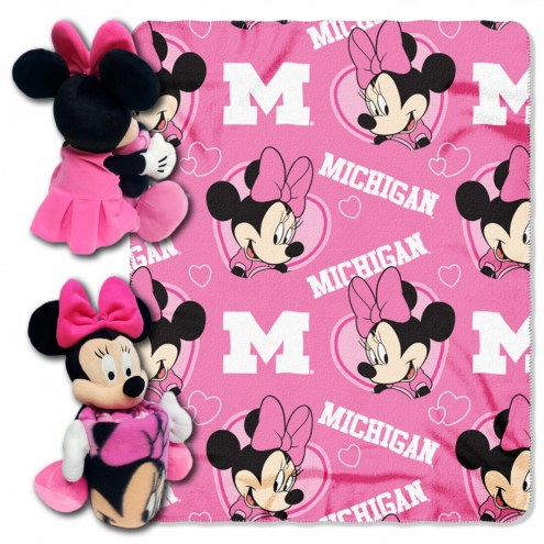 Michigan State Spartans Minnie Mouse Throw Blanket