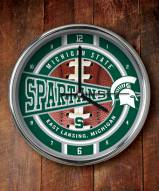 Michigan State Spartans NCAA Chrome Wall Clock