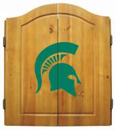 Michigan State Spartans NCAA Complete Dart Board Cabinet Set