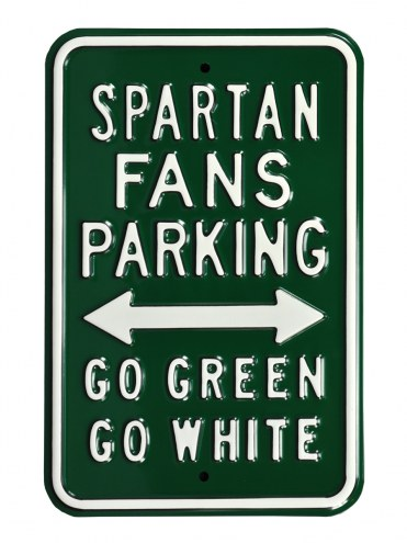 Michigan State Spartans NCAA Embossed Parking Sign