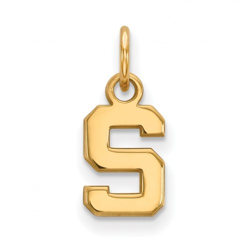Michigan State Spartans NCAA Sterling Silver Gold Plated Extra Small Pendant