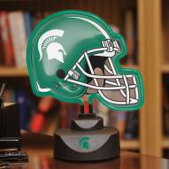 Michigan State Spartans Neon Helmet Desk Lamp