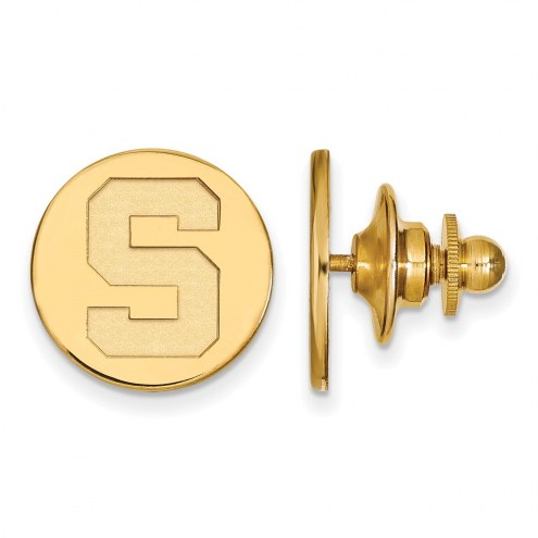 Michigan State Spartans NCAA Sterling Silver Gold Plated Lapel Pin