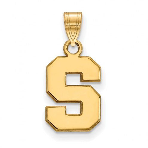 Michigan State Spartans NCAA Sterling Silver Gold Plated Small Pendant