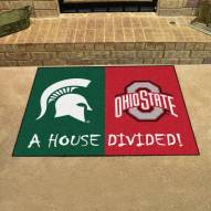 Michigan State Spartans/Ohio State House Divided Mat