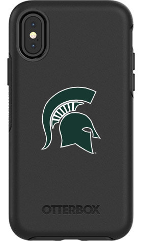 Michigan State Spartans OtterBox iPhone X Symmetry Black Case