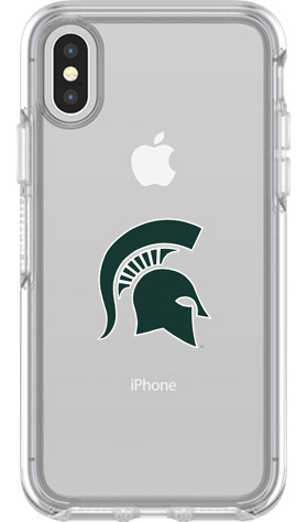 Michigan State Spartans OtterBox iPhone X Symmetry Clear Case