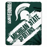 Michigan State Spartans Painted Fleece Blanket
