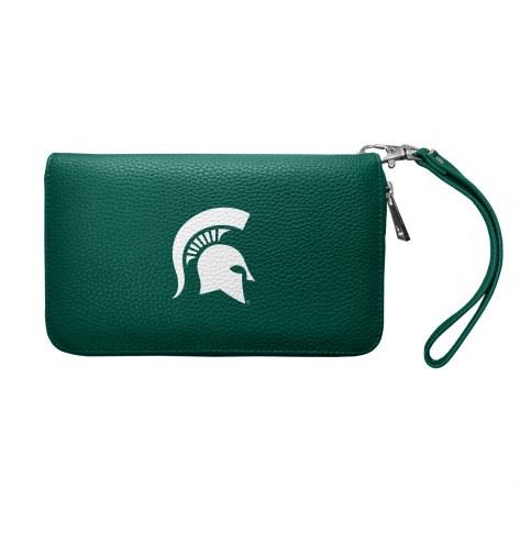 Michigan State Spartans Pebble Organizer Wallet