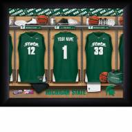 Michigan State Spartans Personalized Basketball Locker Room 11 x 14 Framed Photograph