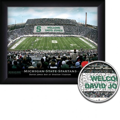 Michigan State Spartans Personalized Framed Stadium Print