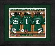 Michigan State Spartans Personalized Locker Room 13 x 16 Framed Photograph