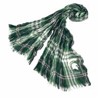 Michigan State Spartans Plaid Crinkle Scarf