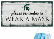 Michigan State Spartans Please Wear Your Mask Sign