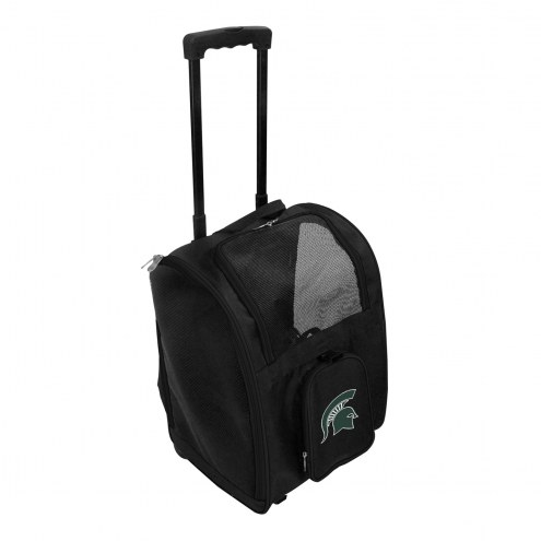 Michigan State Spartans Premium Pet Carrier with Wheels