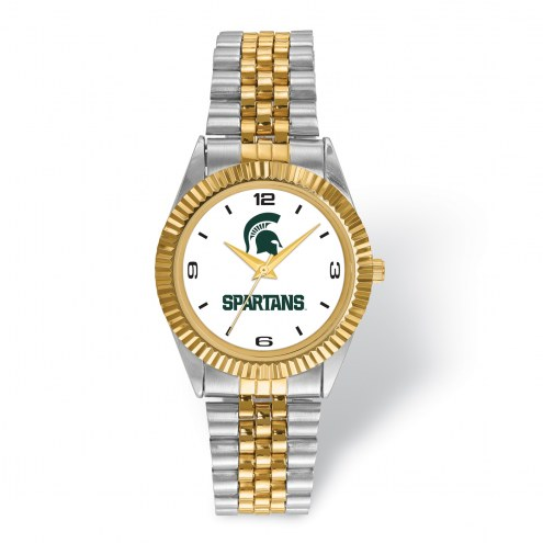 Michigan State Spartans Pro Two-Tone Gents Watch