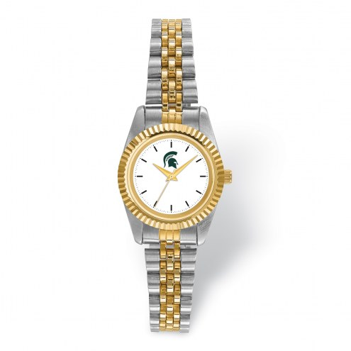 Michigan State Spartans Pro Two-Tone Ladies Watch