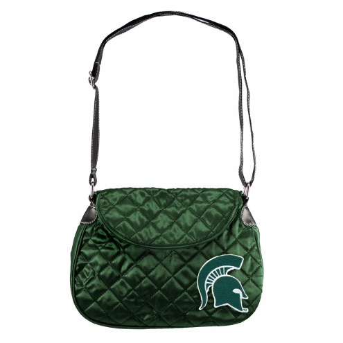 Michigan State Spartans Quilted Saddle Bag