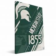 Michigan State Spartans Retro Canvas Print