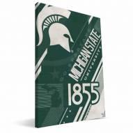 Michigan State Spartans Retro Canvas Print