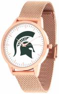 Michigan State Spartans Rose Mesh Statement Watch