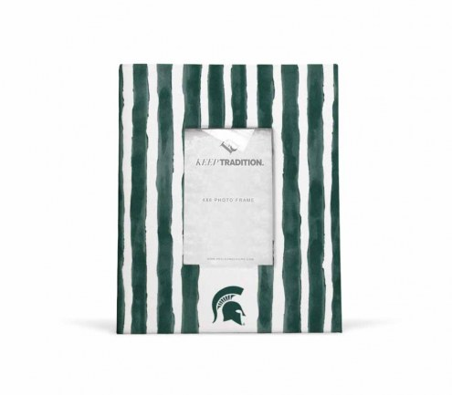 Michigan State Spartans School Stripes Picture Frame