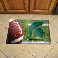 Michigan State Spartans Scraper Door Mat