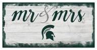 Michigan State Spartans Script Mr. & Mrs. Sign