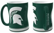 Michigan State Spartans Sculpted Relief Coffee Mug