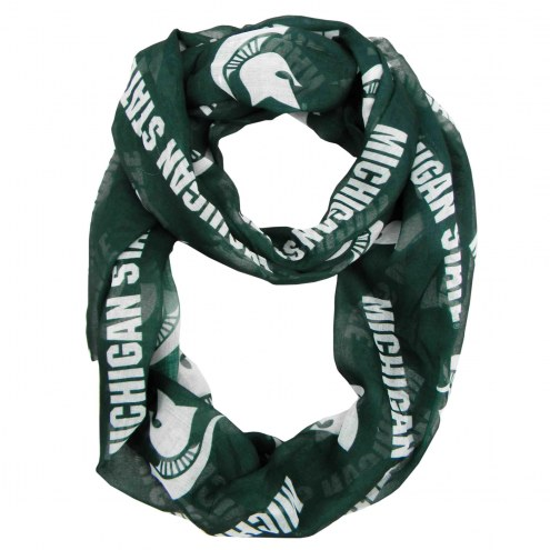 Michigan State Spartans Sheer Infinity Scarf