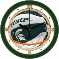 Michigan State Spartans Slam Dunk Wall Clock