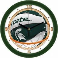 Michigan State Spartans Slam Dunk Wall Clock