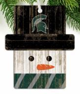 Michigan State Spartans Snowman Ornament