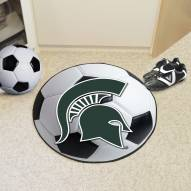 Michigan State Spartans Soccer Ball Mat