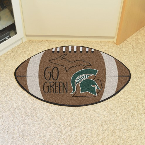Michigan State Spartans Southern Style Football Floor Mat