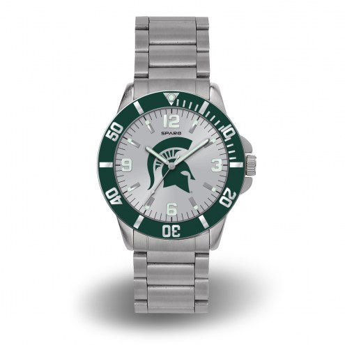 Michigan State Spartans Sparo Men's Key Watch