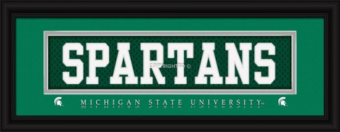 """Michigan State Spartans """"Spartans"""" Stitched Jersey Framed Print"""
